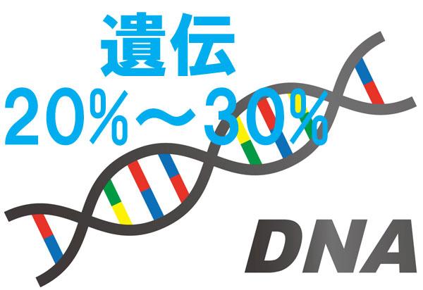 身長に関する遺伝のパーセンテージ