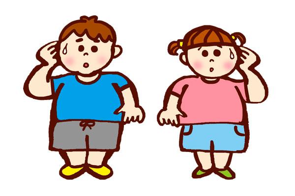 肥満気味の子供